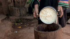 Sticky Rice Stock Footage