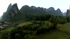 Stock Video Footage of Hot air ballooning - Yangshuo, China