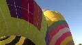Hot Air Balloon Inflates And Rises Footage