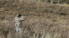 Hunter glassing hill wear camo P HD 3580 Stock Footage