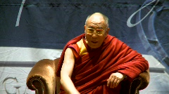 politics and protest, Dalai Lama speaks part 14 - stock footage