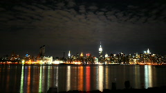 NYC skyline wide angle Stock Footage
