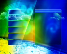 Weather_green_pole Stock Footage