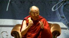 politics and protest, Dalai Lama speaks part 16 - stock footage