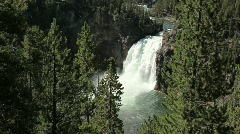 Upper Falls at Yellowstone National Park - stock footage