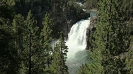 Stock Video Footage of Upper Falls at Yellowstone National Park