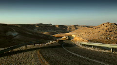 Israel_desert_highway01 Stock Footage