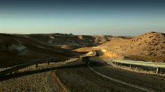 israel_desert_highway01 - stock footage