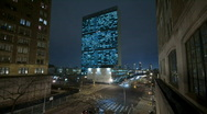 Stock Video Footage of UN Building in NYC time lapse