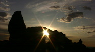 Stock Video Footage of Arches 7 Time Lapse x8 Turret Arch Sunset