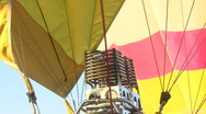 Hot Air Balloon's Propane Burner Stock Footage