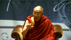 Politics and protest, Dalai Lama speaks part 19 Stock Footage