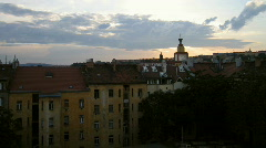 Prague nice sunset - stock footage