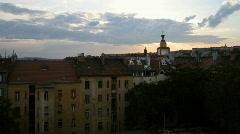 Prague nice sunset Stock Footage