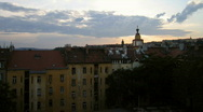 Stock Video Footage of Prague nice sunset