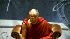 politics and protest, Dalai Lama speaks part 20 - stock footage