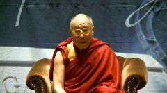 politics and protest, Dalai Lama speaks part 21 - stock footage