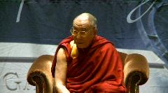 politics and protest, Dalai Lama speaks part 22 - stock footage