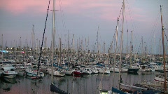 Sailing boats dock Stock Footage