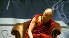politics and protest, Dalai Lama speaks 7b - stock footage