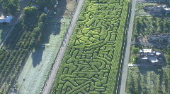 Garden Hedge Maze Stock Footage