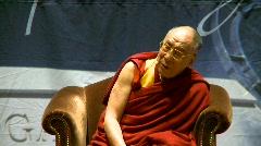 politics and protest, Dalai Lama speaks part 26 - stock footage