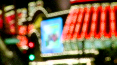 Neon lights on the Vegas strip (1 of 3) - stock footage
