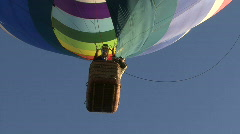 Hot Air Balloon's Pilot's Basket From Below Stock Footage