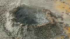Boiling Water in Old Faithful Geyser Basin Stock Footage