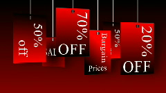 Animation announcing sales and discounts. Concept of shopping Stock Footage