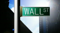 Animation of Wall Street in New York. Finance place Stock Footage