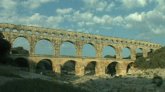 "The ""Pont du Gard"" in France at sunrise Stock Footage"