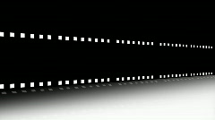 Animation of a film strip announcing a movie Stock Footage