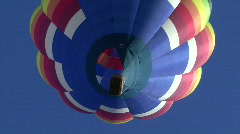Hot Air Balloon From Below Stock Footage