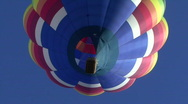 Stock Video Footage of Hot Air Balloon From Below
