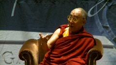 politics and protest, Dalai Lama speaks part 31 - stock footage