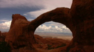 Stock Video Footage of Arches 10 Time Lapse x10 Double O Arch verB