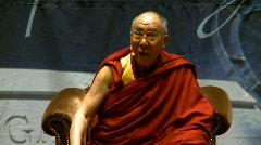 politics and protest, Dalai Lama speaks part 33 - stock footage