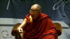politics and protest, Dalai Lama speaks part 34 - stock footage