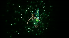 Fairy Flying HD1080 with Alpha Channel Stock Footage