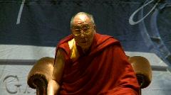 politics and protest, Dalai Lama speaks part 36 - stock footage