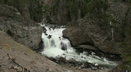 River Flowing in Yellowstone National Park Stock Footage