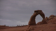 Stock Video Footage of Arches 14 Delicate Arch LS