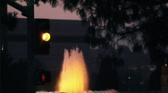 Yellow light and fountain Stock Footage