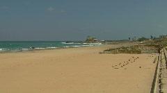 Caesarea Hippodrome pan 1 Stock Footage