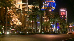Neon lights on the Vegas strip (3 of 3) Stock Footage