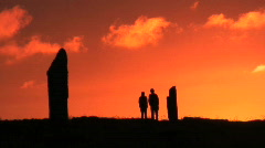 Ring of Brodgar Orkney - stock footage