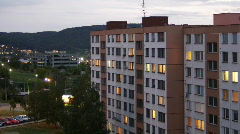 Zlin city sunset Stock Footage