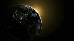 Night Globe with City Lights, Part 2 - HD 1080 Stock Footage