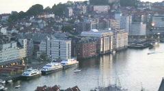 Bergan, Hordaland Norway Stock Footage